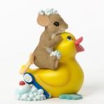 Силиконовая форма «Мышонок на утенке»