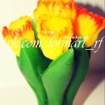Силиконовая форма «Букет тюльпанов на стебле» №1