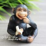 Силиконовая форма «Черная обезьянка №2»