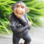 Силиконовая форма «Черная обезьянка №3»