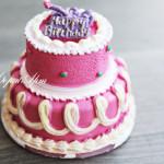 Силиконовая форма «Торт с Днем Рождения»