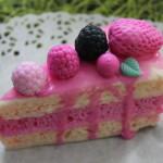 Силиконовая форма «Кусочек бисквитного торта без ягод»
