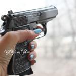 Силиконовая форма «Пистолет №1» 3D