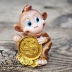 Силиконовая форма «Мартышка с монетой $»