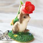 Силиконовая форма «Мышонок с тюльпаном»