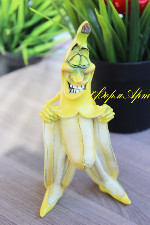 """Силиконовая форма """"Банан -хулиган""""  Вес мыла ~120 грамм"""