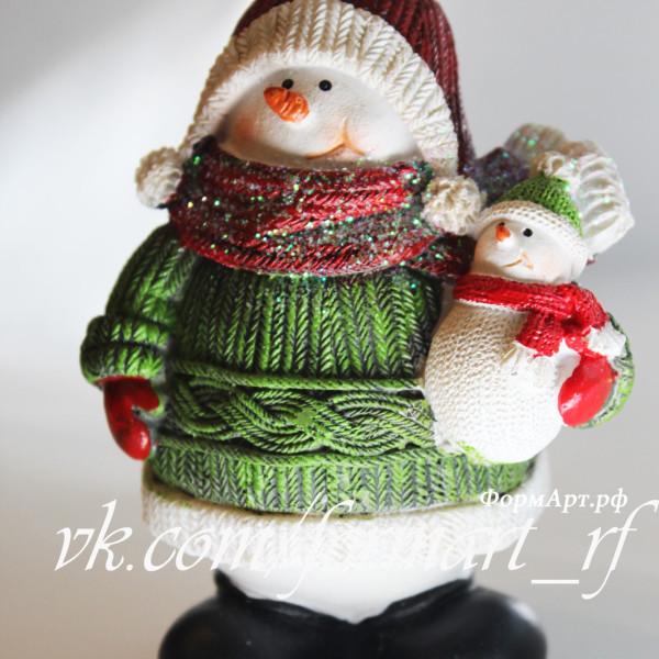 """Силиконовая форма """"Снеговик с маленьким снеговичком"""""""