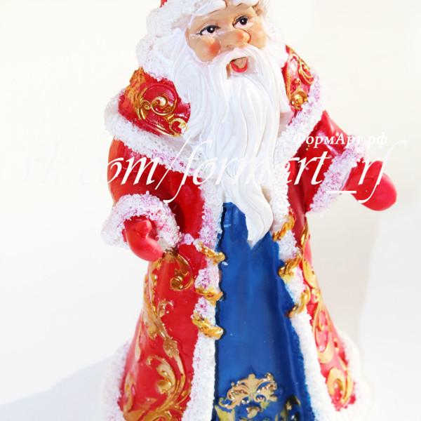 """Силиконовая форма """"Дед Мороз в красной шубке"""""""