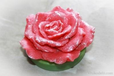 """Силиконовая форма """"Роза на подставке"""""""