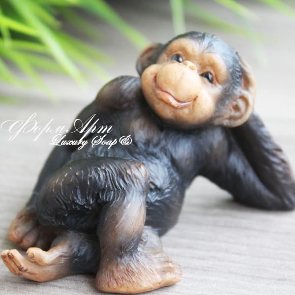 """Силиконовая форма """"Черная обезьянка №4"""""""