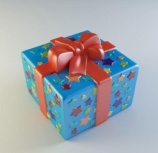 """Силиконовая форма """"Подарок"""""""