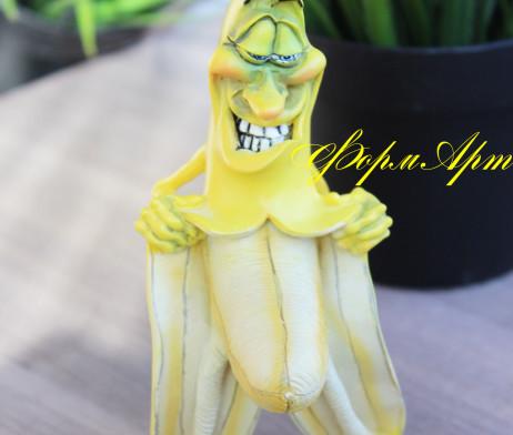 "Силиконовая форма ""Банан -хулиган"""