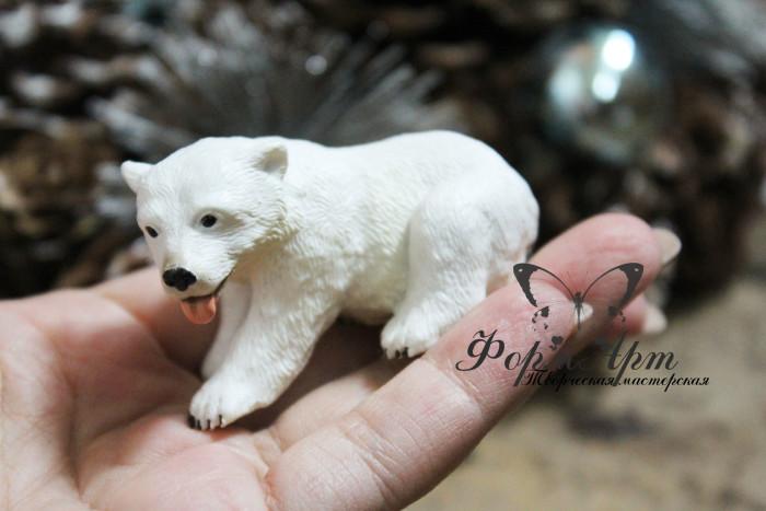 """Силиконовая форма """"Полярный мишка малый"""" Вес мыла ~30 грамм Длинна 6 см, высота 3,5 см"""