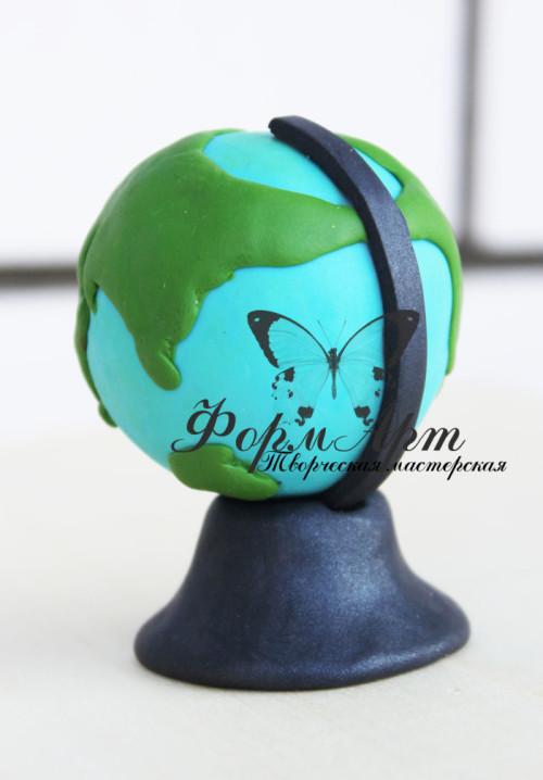 """Силиконовая форма """"Глобус"""" (состоит из двух форм) Высота 6,5 см, диаметр 5 см Вес примерно 70  грамм   АВТОРСКАЯ ФОРМА ТМ """"ФОРМАРТ"""""""