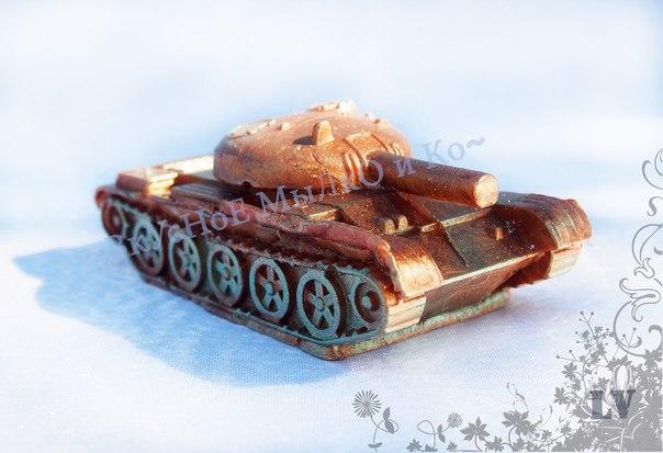 """Силиконовая форма """"Танк 3D"""" Вес мыла примерно 80 грамм Автор работы Валерия Лапшина https://vk.com/id6589493"""