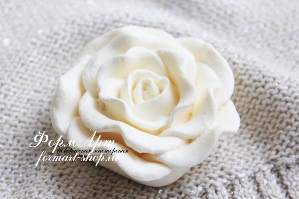"""Силиконовая форма """"Чайная роза №2"""" Вес мыла примерно 70 грамм Диаметр 7 см, высота 3 см"""