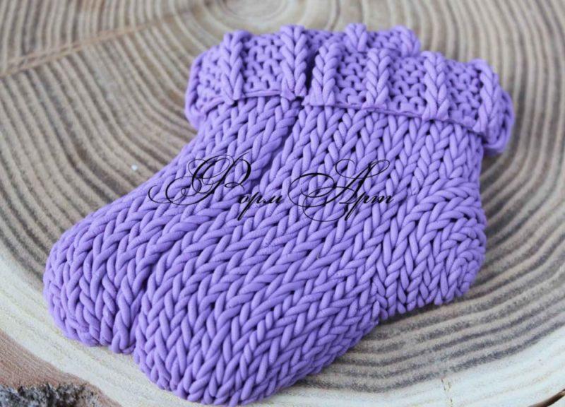 """Силиконовая форма """"Вязанные носки 2D"""""""